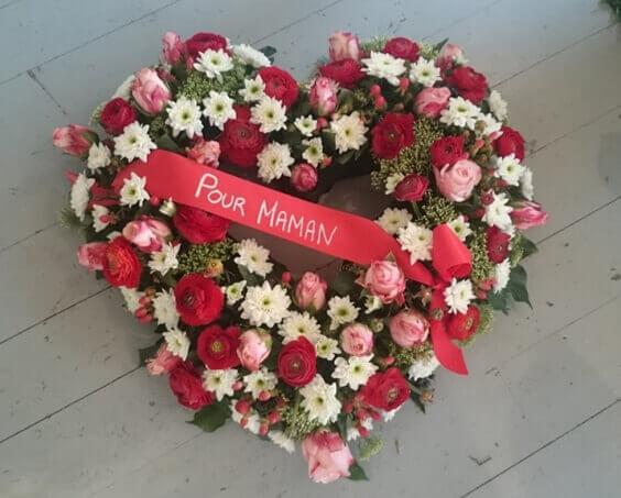 bouquet en forme de cœur
